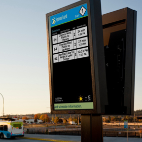 Image of a Transit Display for the Spokane Transit Authority.